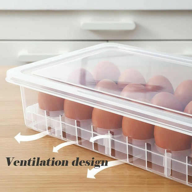 Brand New Portable 18 Grid Eggs Holder Plastic Box Multifunction Egg Storage Box Clear Eco-friendly Storage Boxes