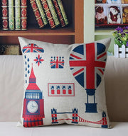 British Art Linen Pillowcase Printed Square Cushion Decorative Pillow Cushions Home Decor Throw Pillow Almofadas Christmas Gift