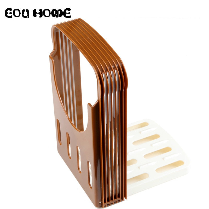 Brown ABS Material Baking Pastry Tools Practical Bread Cutter Loaf Toast  Slicer Cutting Slicing Guide Kitchen Baking Accessories
