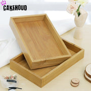 CAKEHOUD Home Retro Fruit Plate Tea Tray Hotel Party Service Tray Natural Food And Beverage Service Platter Breakfast Bed Tray