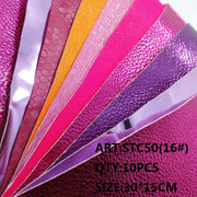 CLEAR STOCK 1SET(10PCS )30X15cm Alisa Glitter Cuero Sintetico Glitter Leather For DIY Hair Accessroies Craft STC50