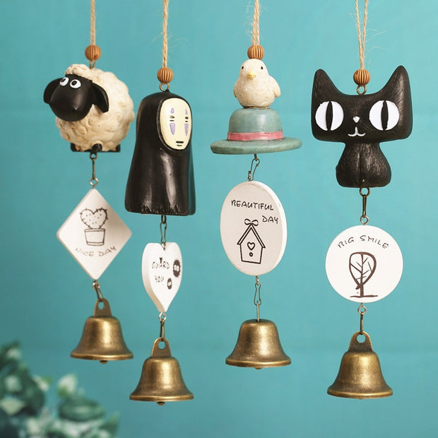 Cartoon Campanula Pendant Creative Wind Chimes Decorative Pendant Crafts Home Decor Furnishing Windchimes Student Gifts