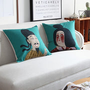 Chinese Classical Figures Pillowcase Cute Man And Woman Printed Cushion Decorative Pillow Cushions Home Decor Throw Pillow
