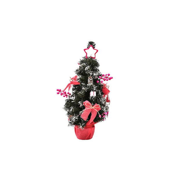 Christmas Decoration For Home Artificial Tabletop Mini Christmas Tree Decorations Festival Miniature Tree 30cm New Year Gift
