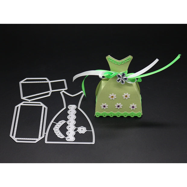 Christmas Decoration Metal Cutting Candy/Gift Box Cut Die Scrapbooking Emossing Stencil Card Die For DIY Album Book Decor