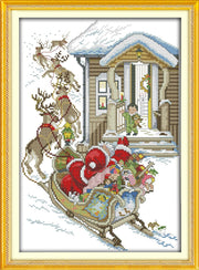 Christmas Eve, Counted Printed On Fabric DMC 14CT 11CT Cross Stitch Kits,embroidery Needlework Sets Home Decor