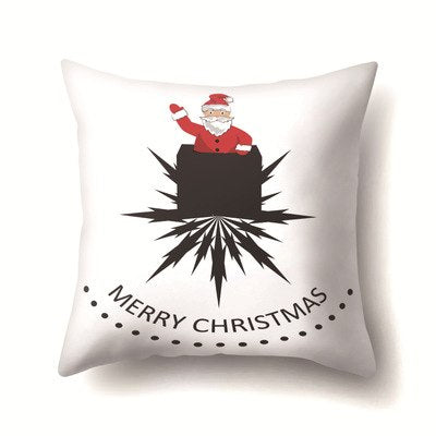 Christmas Pillowcase Cartoon Pillow Case Santa Snowman Elk Pattern For Home New Arrival 45*45cm Square Printed Pillowcases