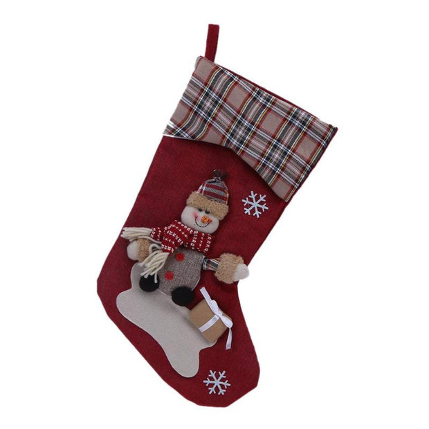 Christmas Stockings Gift Bag Ornament Home Party Tree Hanging Pendant Decor