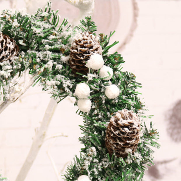 Christmas Wreath Xmas Fake Pine Cone Large Wreath Door Wall Ornament Garland Decoration Christmas Tree Decor For Home 30cm