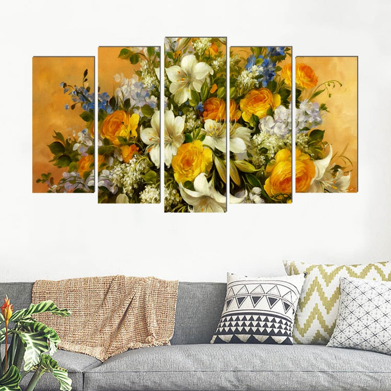 Classical Canvas Painting Traditional Art Prints 5 Psc Modern Europe Wall  Pictures For Living Room Bedroom Restaurant Cafe Shop