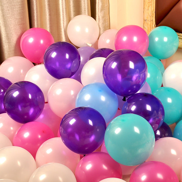 Color New 100Pcs Latex Balloons Birthday Party Decoration Wedding Supplies