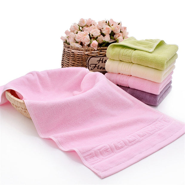 Cotton Absorbent Solid Color Soft Comfortable Convenient Gentle Skin Top Grade Men Women Family Bathroom Hand Towel 34x74cm