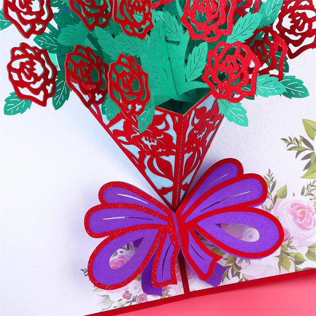 Creative 6 Pattern 3D Paper Craft For Valentine'S Day Prop For Party Supplies Music Greeting Card Gift Ornament Festival