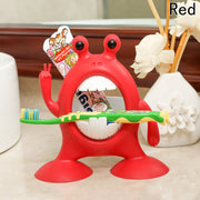 Creative Cartoon Monster Toothbrush Holders Children Bathroom Sets Funny Sucker Toothpaste Holder / Suction Hooks Racks