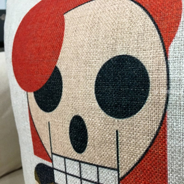 Creative Cool Skeleton Printed Cotton Linen Pillowcase Cartoon Punk Sofa Cusions Decorative Pillow Home Decor Throw Pillow 45*45