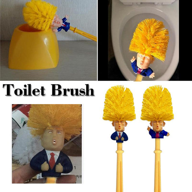 Creative Lovely Donald Trump Brush Toilet Brush Bowl Gag Gift Hand Made For Black Friday Home Gift Toilet Brush Cleaning Tools