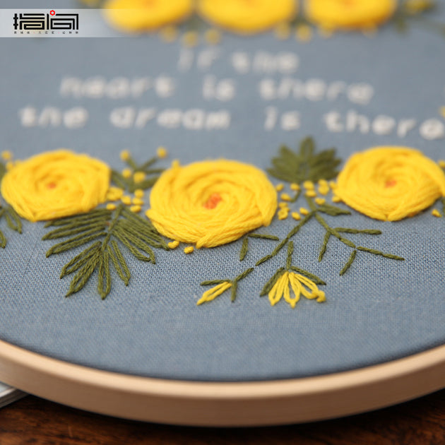 Creative Embroidery Starter Kit with Pattern DIY Needlework for Wall Decor