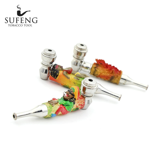 Creative Fashion Tobacco Metal Pipe Portable Innovative Tobacco Pipe Art Weed Tobacco Pipe Gift Hookah Pipe Free Delivery