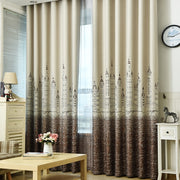 Curtain For Living Room Children Bedroom Cartoon Sea Castle Printed Voile Curtain Kids Curtains Cloth Tulle Cortinas 230&20