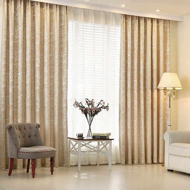 Customized Quality Jacquard Thickening Shade Cloth Curtain For Living Room Window Tulle Blind For Bedding Room Home Decortaion