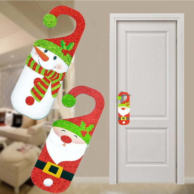 Cute Paper Snowman Decorative Door Hanger Hook Sign Xmas Hanging Door Christms Tree Decor Christmas Ornaments Decoration