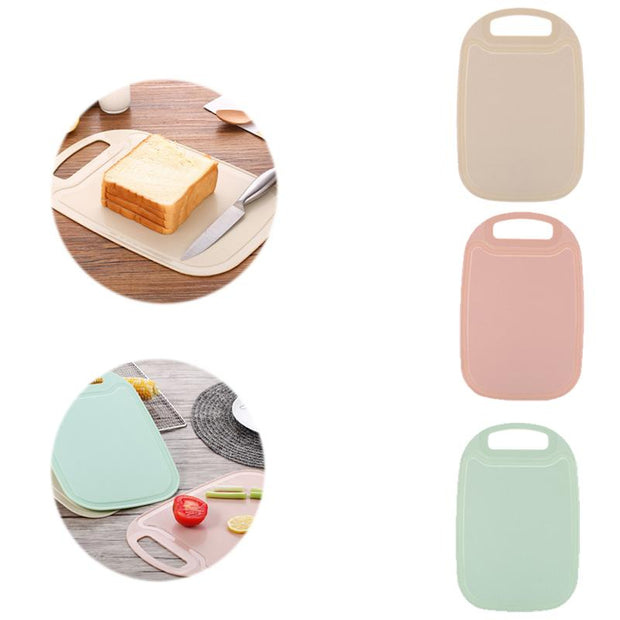 Cutting Board Mat Non-slip Plastic Chopping Board Kitchen Tool With Hanging Hole