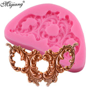 DIY Cake Border Frame Silicone Mold 3D Baroque Scroll Relief Fondant Cake Decorating Candy Fimo Clay Chocolate Gumpaste Molds