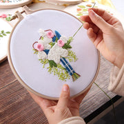 DIY Flower Regiment Embroidery With Tools Kit Handkerchief For Valentines Day Gift DIY Knitting Product