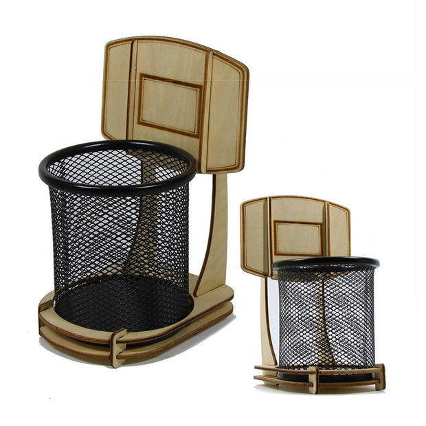 DIY Office Basketball Stand Pen Holder Pencil Holder Table Decoration For Basketball Fans