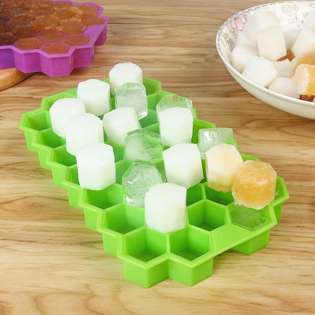 DIY Silicone 37 Grids Ice Cube Tray Ice Cream Mold Ice Maker Honeycomb Fruit Ice Cube Tray
