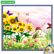 DUOYISHANG 5D DIY Diamond Painting Butterflies And Flowers Full Square Diamond Embroidery Mosaic Crystals Paintings Home Decor
