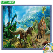 DUOYISHANG 5D DIY Diamond Painting Dinosaur Full Square Diamond Embroidery Sale Mosaic Animals Rhinestones Painting Decor Home
