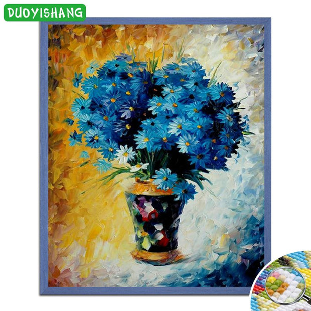 DUOYISHANG 5D DIY Diamond Painting Flowers Full Square Embroidery Diamond Mosaic Sale Flowers Picture By Rhinestones Accessories