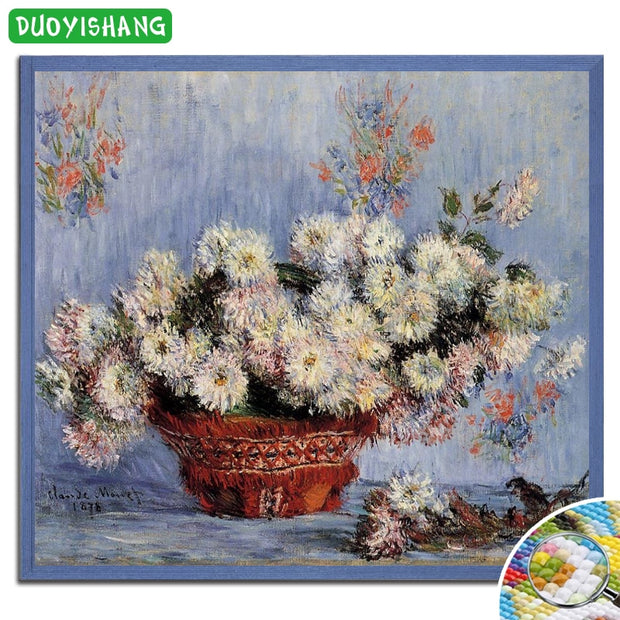 DUOYISHANG 5D DIY Diamond Painting Flowers Full Square Embroidery Diamond Mosaic Sale Flowers Rhinestones Paintings Accessories