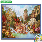 DUOYISHANG 5D DIY Diamond Painting Landscape Full Square Diamond Embroidery Cross Stitch Mosaic Rhinestones Picture Home Decor