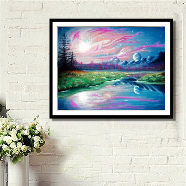 DUOYISHANG 5D DIY Diamond Painting Landscape Full Square Diamond Embroidery Mosaic Crystals Colored Drawing Paintings Home Decor
