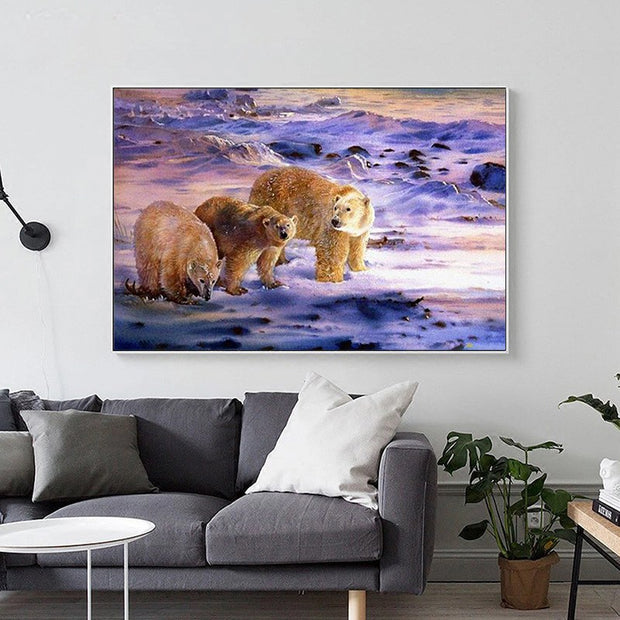 DUOYISHANG 5D DIY Diamond Painting Polar Bear Full Square Diamond Embroidery Sale Mosaic Pictures Of Rhinestones Home Decoration