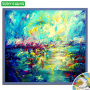 DUOYISHANG 5D DIY Diamond Painting Scenery Oil Style Full Square Diamond Embroidery Sale Landscape Painting Rhinestones Handwork