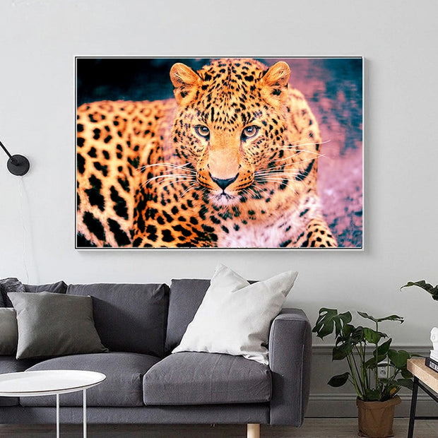 DUOYISHANG Full Square Resin 5D DIY Diamond Painting Leopard Embroidery Sale Animals Picture Rhinestones Mosaic Home Decoration