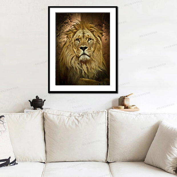 DUOYISHANG Lion Head DIY Diamond Painting Full Square 5D Diamond Embroidery Crystals Paintings Animal Picture Decoration Maison