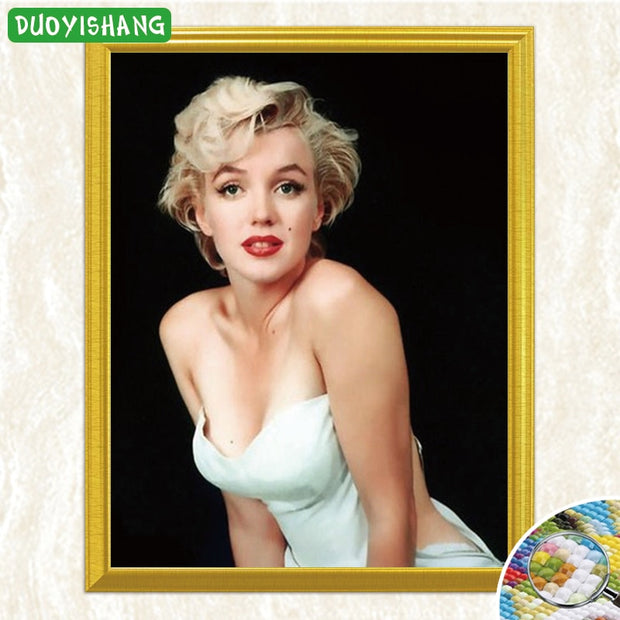 DUOYISHANG Sexy Marilyn Monroe Portrait 5D DIY Diamond Painting Full Square Diamond Embroidery Sale Mosaic Rhinestones Painting