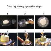 Decorative Ornaments Dry Ice Tray Birthday Party Cake Baking Venue Decoration Eco-friendly Portable