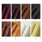 Decorative Waterproof Wood Grain Film Oil Proof Self Adhesive Removable Wall Sticker Vintage PVC