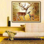 Deer In The Froest 5D DIY Diamond Painting Full Square Diamond Embroidery Mosaic Animals Paintings From Crystals Home Decoration