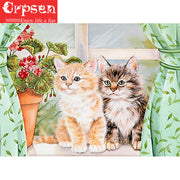 Diamond Painting 5D Embroidery Full Square Diamond Animal Cat DIY Gift Art Crafts&Sewing Needlework Cross Sticth Wall Painting