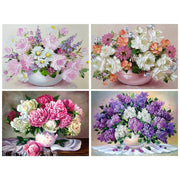 Diamond Painting Diamond Embroidery 5d Diy Full Square Vase Flower - Diamond Mosaic Diamond Paint Daimond Painting