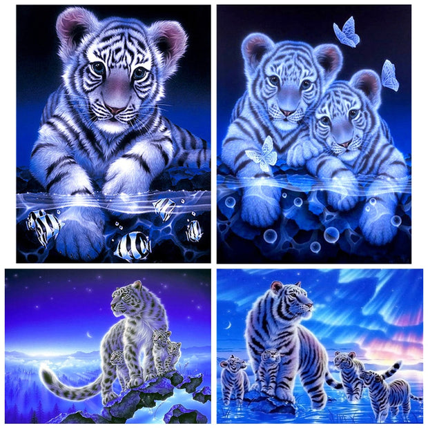 Diamond Painting Diamond Embroidery 5d Diy Full Square Animals Tiger - Diamond Mosaic Daimond Painting Drill