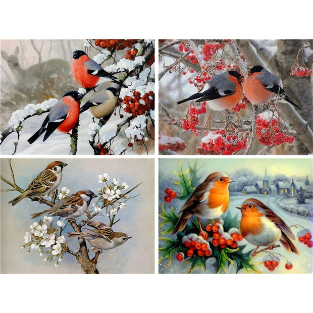 Diamond Painting Diamond Embroidery 5d Diy Full Square Animals Bird - Diamond Mosaic Pictures Of Rhinestones Buddha
