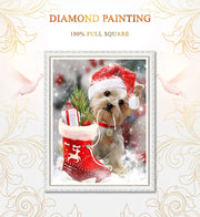Diamond Painting Diamond Embroidery 5d Diy Full Square Animals Dogs - Diamond Mosaic Buddha Pictures Of Rhinestones