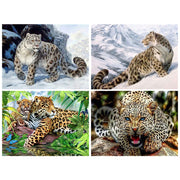 Diamond Painting Diamond Embroidery 5d Diy Full Square Animals Leopard - Diamond Mosaic Buddha Pictures Of Rhinestones